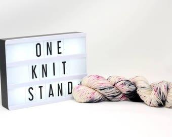One Knit Stand - Hand Dyed Merino/Silk Yarn