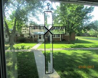 Beveled Glass Cross