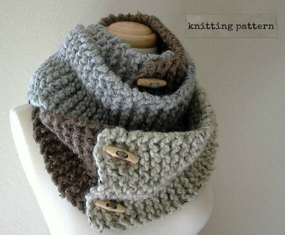 As You Like It Knitting Pattern Convertible Cowl Neck Scarf