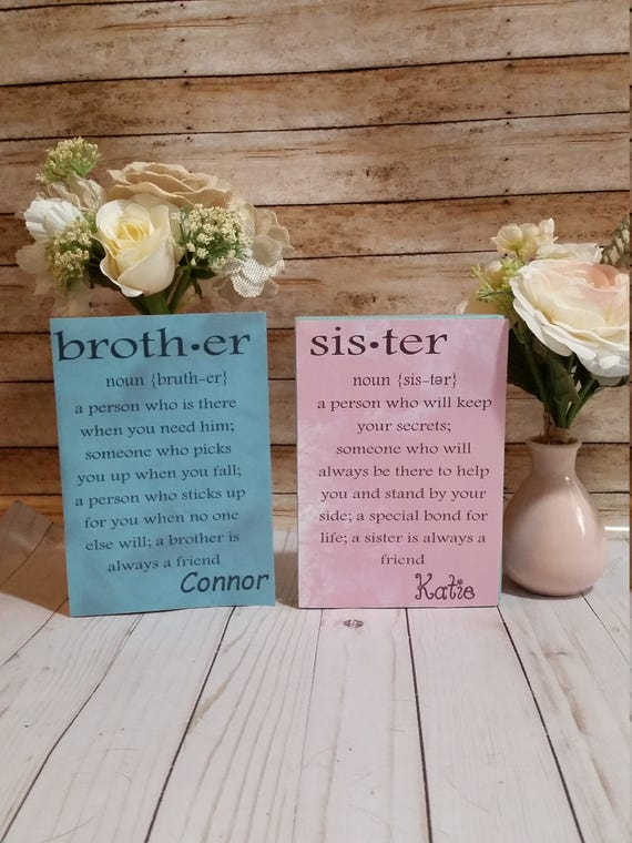Brother definition sister definition brother sign wooden brother definition sister definition brother sign wooden sign personalized big brother little sister big sister little brother stopboris Choice Image