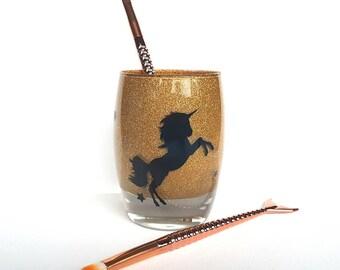 Unicorn Makeup brush holder, best friend gift, teeneagers gift, bff, 16th, 18th, 21st, 30th birthday gift, teenage makeup, teen girl gift