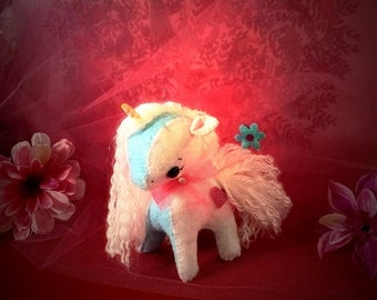 Gingermelon Unicorn felt Pretty pony stuffed animal toy