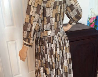 Camo colored dress made by Stacey Ames size large