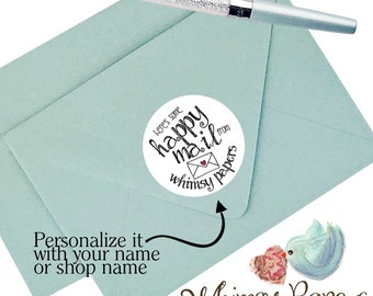 Happy Mail Stickers, Personalized Mail Stickers