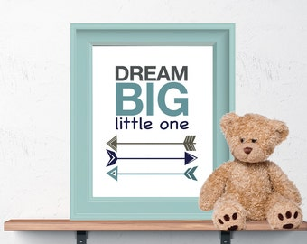 Dream Big Little One 8x10 or 11x14 Matted Options Nursery
