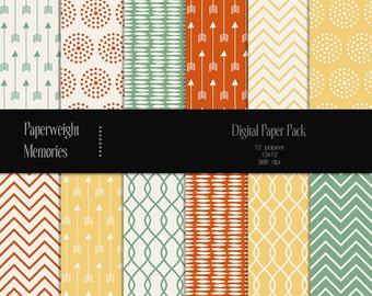 Secret Hideaway - digital patterned paper - Instant Download -  digital scrapbooking - Commercial use
