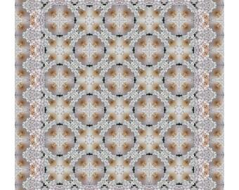 Bridal Chrysanthemums Showcase Quilt Kit