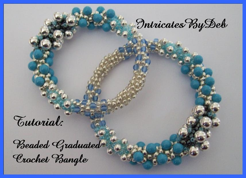 Tutorial Beaded Crochet Graduated Bangle Left And Right Handed Diy