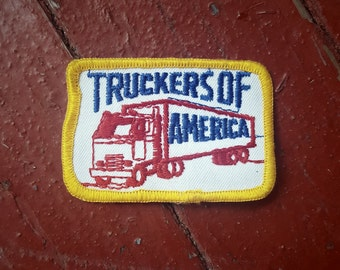 NOS Vintage Truckers of America Patch - Semi Truck Graphic