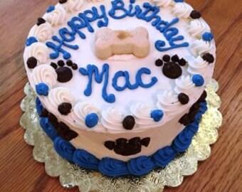"""Dog Cake 4"""" Happy Birthday Puppy Cake (Serves about 4)"""