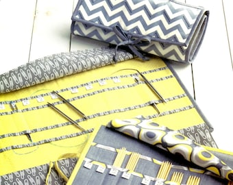 KNIT, PURL,and Roll - Terry Atkinson Designs ATK-171 Sew Your Knitting Case!