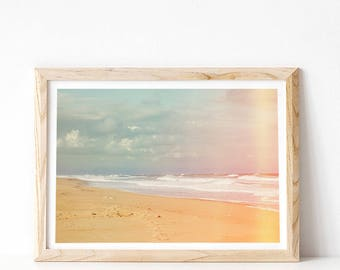 Ocean Print, Beach Print, Tropical Decor, Large Wall Art, Coastal Art Print, Digital Download, Printable Art, Last Minute Gift for Her