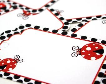 "4"" Lady Bug Printed Cardboard Tags"