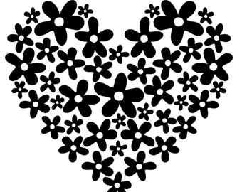 FLORAL HEART Decal
