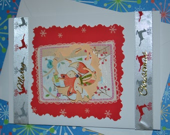 Christmas card - Jingle bell fox