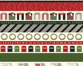 Christmas Delivery Stripe Black C7337-Black by Carta Bella