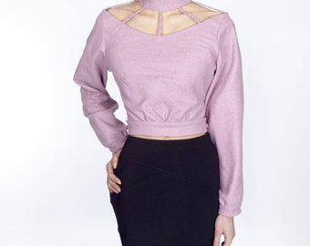 LILAC WOOL BLOUSE