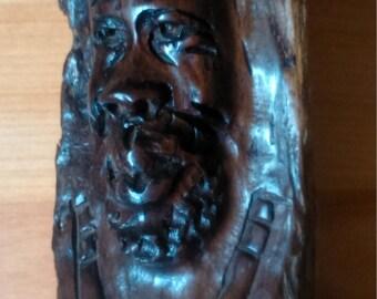 vintage wood wooden carved African figure sculpture handcraft handmade