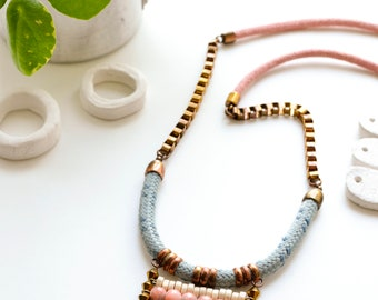 Beaded Necklace, Best Friend Gift, Statement Necklace, Handmade Jewelry, Boho Necklace, Pendant Necklace, Gift For Her, Repurposed Necklace