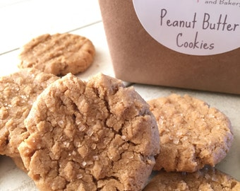 Vegan Peanut Butter Cookies/Gluten Free Cookies/Mini/Vegan Treats/VeganBaked Goods/Desserts/BiteSize /Cookies/Peanut Butter/Gift/Cookie Jar
