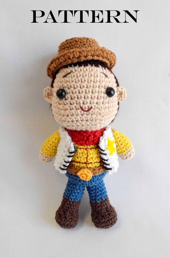 Woody sheriff toy story amigurumi PATTERN-Cowboy amigurumi