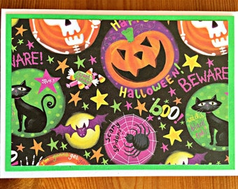 Halloween Note Card Set | Halloween Party Invitations | Halloween Card Set | Blank Note Card | Set of 8 | Halloween Thank You | Party Invite