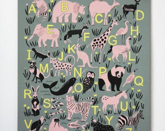 ABC Animal Alphabet Poster
