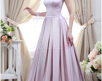 Silk Lavender Long Dress