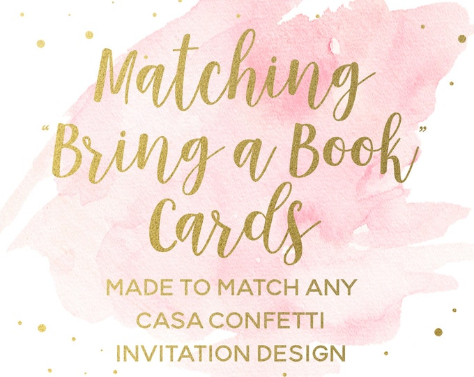 Bring a Book Baby Shower Insert Made to Match any Design, Custom Baby Shower Bring a Book Invitation Insert, Coordinating Party Printables