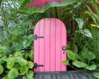 Fairy Door fairy accessories garden miniature  with black decorative hinges fairy garden accessory supply