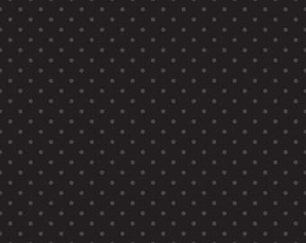 Black swiss dots on Black background basics blender by Riley Blake - C790-110