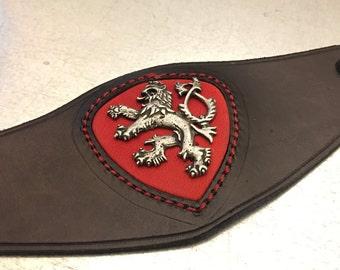Bohemian Double Tailed Lion Leather Bracelet, Bohemian Cuff, Bohemian Bracelet, Leather Cuff, Handmade Cuff, Bohemian Double Tailed Lion,