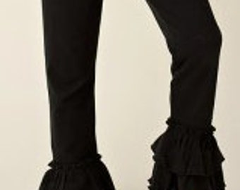 Girls Black Ruffle Pants - Ruffle Pants - Girls Ruffle bottoms