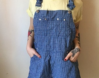 Late 1990's Blue Overall Shorts