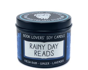 Rainy Day Reads - 4 oz Book Lovers' Soy Candle -  Book Lover Gift - Scented Soy Candle - Frostbeard Studio