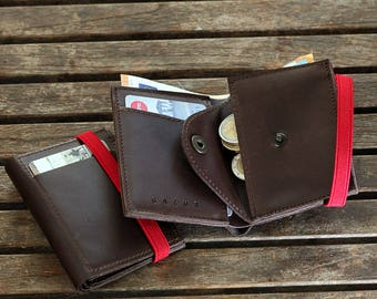 Men's Leather Wallet, Minimalist Wallet ,personalized wallet