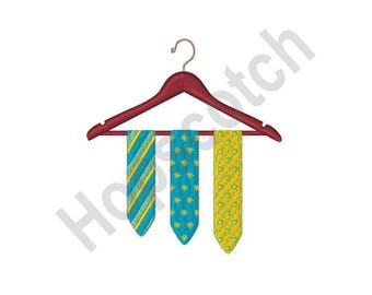 Ties - Machine Embroidery Design