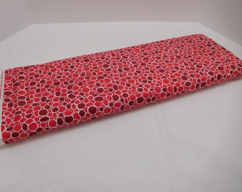 599 Red Mosaic Fabric; Fabric By the Yard; Shades of Red Fabric; Red Bubbles; Mod Fabric; Red Dots; Cut to Size; 100% Cotton; Quilting