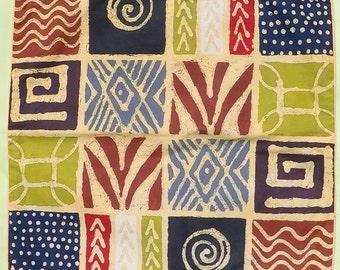 Batik Patterned Cushion Cover