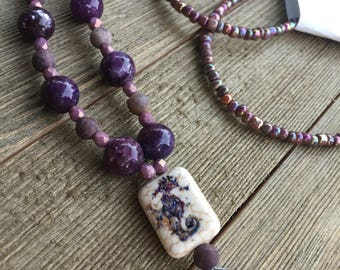 Purple and Lavender Necklace