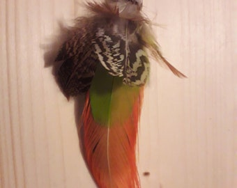 real feather earring