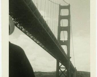 "Vintage Photo ""Charlie's Trip to San Francisco"" California Travel Golden Gate Bridge Americana Snapshot Old Black & White Vernacular - 24"