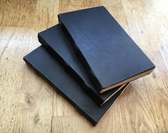 Medieval hand bound leather book
