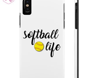 Softball Life Tough Phone Case, Softball iPhone, Softball Samsung Case, iPhone 6, 7, 8, X, Softball Mom
