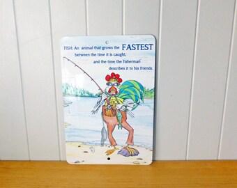 Fishing Fun Sign Fisherman Quote Gone Fishing Fish Story Lake Nature Cabin Decor Man Gift 8x12