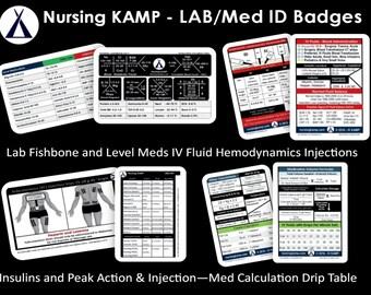 Id badges nursing student nurse cardiac ecg ekg clinical id badge 4 lab med calculation insuliniv fluids nursing student practice fishbone clinical medical gift nursing ccuart Choice Image