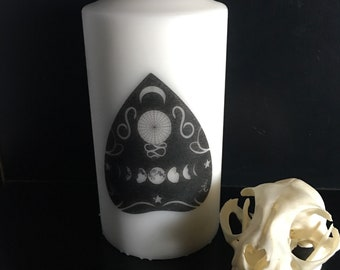 Moon Planchette Ouija Large Pillar Candle