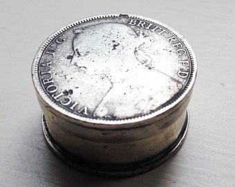Victorian Coin Trinket Box
