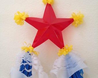 One 6 x 8 inches Miniature Filipino Paper Christmas Lantern AKA Parol - Christmas Tree Ornaments