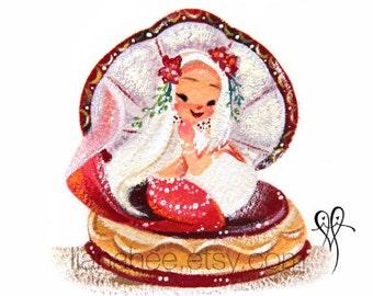 Gilded Garnet fine art mini print